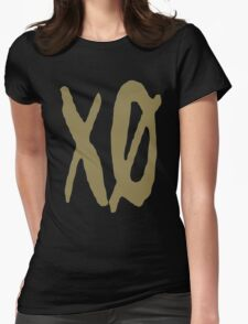 XO Slash [Gold] Womens Fitted T-Shirt