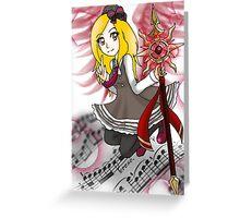 Piano Girl Greeting Card