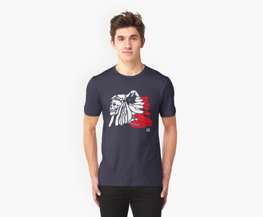 Forgotten Chief (Red feathers) by 45thAveArtCo