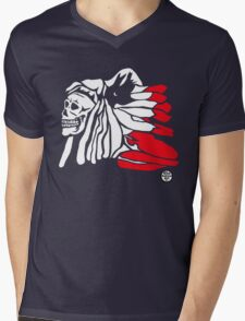 Forgotten Chief (Red feathers) Mens V-Neck T-Shirt