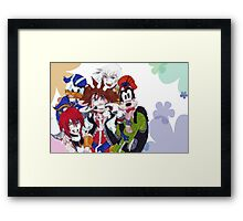 Kingdom Hearts- Group Framed Print