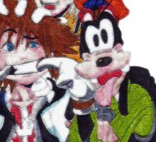 Kingdom Hearts- Group Sticker