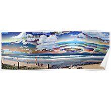 Rainbow Beach Surreal Poster