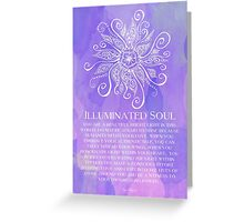 Illuminated Soul Greeting Card