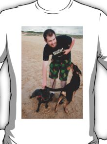 10. Chris with his English Staffy T-Shirt