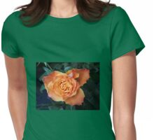 Soft and Gentle Rose Womens Fitted T-Shirt