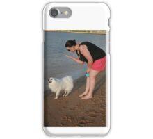 8. Rebecca & her Japanese Spitz iPhone Case/Skin