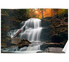 Fading October Daylight at Shawnee Falls Poster