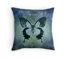The Blue Butterfly Throw Pillow