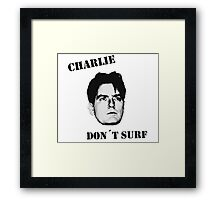 Charlie don't surf - Cool Mashup Framed Print