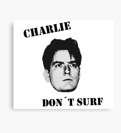 Charlie don't surf - Cool Mashup Canvas Print