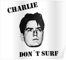 Charlie don't surf - Cool Mashup Poster