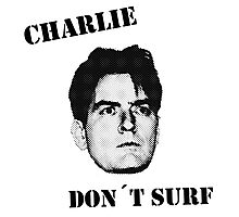 Charlie don't surf - Mashup Photographic Print