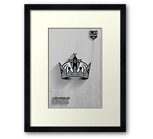 Los Angeles Kings Minimalist Print Framed Print