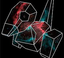 Cosmic Porygon with white outline by GarretBobbyFerg