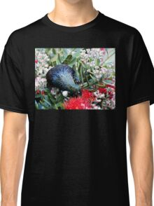 Delights From Nature - Tūī - Pohutukawa Tree - NZ Classic T-Shirt
