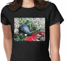 Delights From Nature - Tūī - Pohutukawa Tree - NZ Womens Fitted T-Shirt