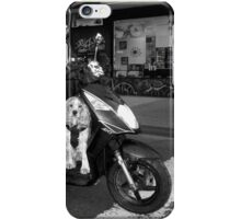 Dog on a motorcycle iPhone Case/Skin