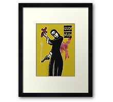 GUN NUN COVER Framed Print