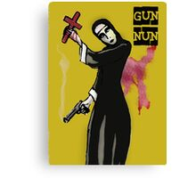 GUN NUN COVER Canvas Print