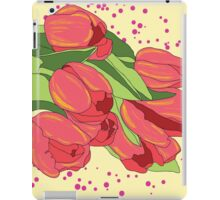 Pastel Pink Tulips and Greenery iPad Case/Skin