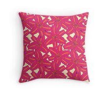 Pink Tropical Lilies Throw Pillow