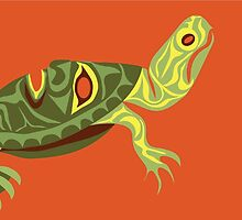 Western Painted Turtle by Mark Gauti