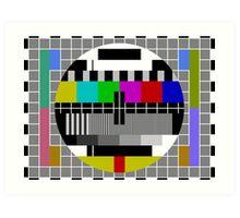 No signal TV Screen Art Print