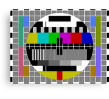 No signal TV Screen Canvas Print