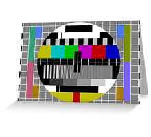 No signal TV Screen Greeting Card
