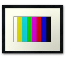 TV signal Framed Print