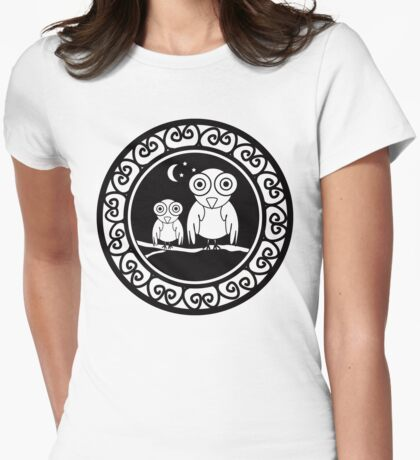 owlish vintage  Womens Fitted T-Shirt