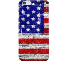 USA Flag Brick Wall iPhone Case/Skin
