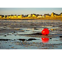 Red Buoy at Low Tide Photographic Print