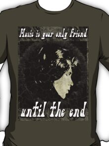MUSIC IS YOUR SPECIAL FRIEND - black/grey T-Shirt