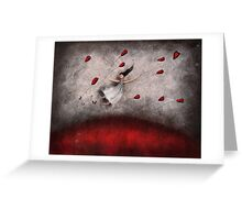 i'm like a flower in the breeze.... Greeting Card