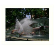 Captain Cook Memorial Fountain Art Print