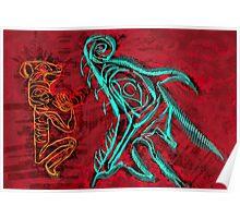 Mink versus The Sea Serpent Poster