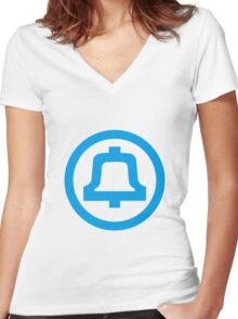 Bell Telephone Logo Women's Fitted V-Neck T-Shirt