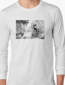 Triceratops on a Tricycle Long Sleeve T-Shirt