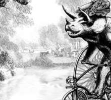 Triceratops on a Tricycle Sticker