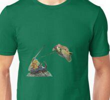 weasel riding woodpecker versus frog riding beetle Unisex T-Shirt