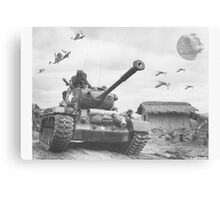 A Wing X Fing WWII Fly Over Canvas Print
