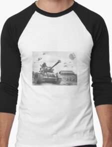 A Wing X Fing WWII Fly Over Men's Baseball ¾ T-Shirt