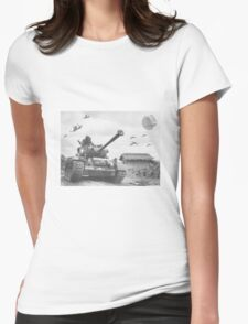 A Wing X Fing WWII Fly Over Womens Fitted T-Shirt