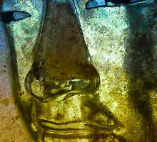 Buddha Face blue yellow by Marco  Fischer