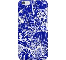 Biodiversity Aussie Tangle in White (choose your own colour background - see description notes). iPhone Case/Skin