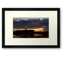 Sunrise at the Base Framed Print