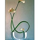 Ikebana-024 Greeting Card by Baiko