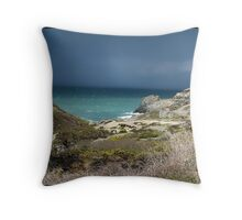 """ Approching Storm over St Agnes"" Throw Pillow"